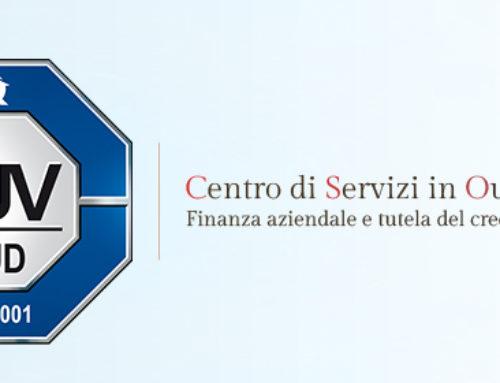 CSO ottiene la certificazione ISO 9001:2015